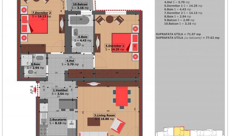 Apartament cu3 camere Pritvorului Residence