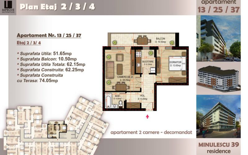 Apartament cu 2 camere Minulescu 39 Residence006
