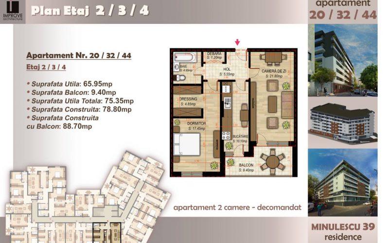 Apartament cu 2 camere Minulescu 39 Residence014
