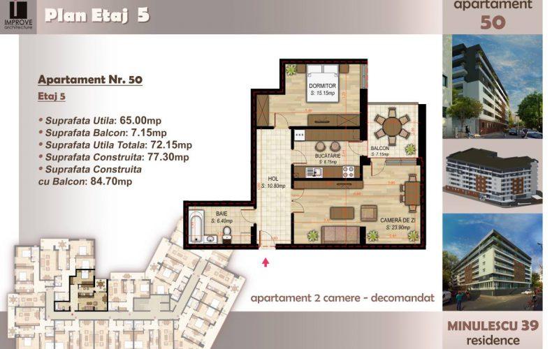 Apartament cu 2 camere Minulescu 39 Residence023