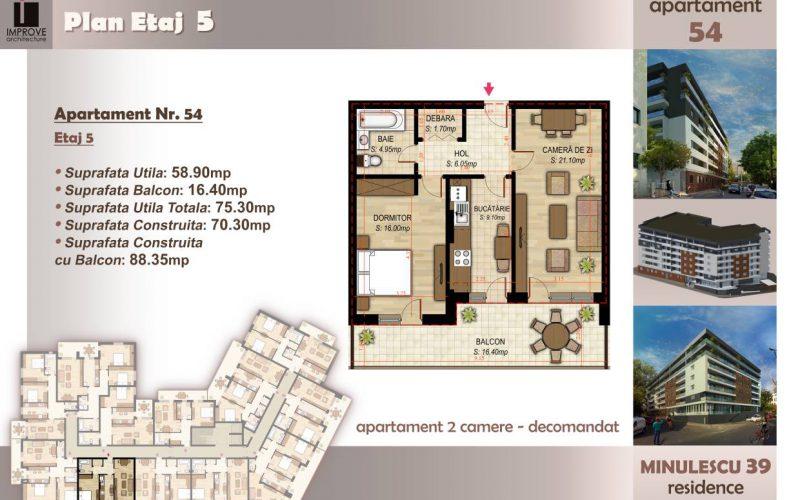 Apartament cu 2 camere Minulescu 39 Residence027