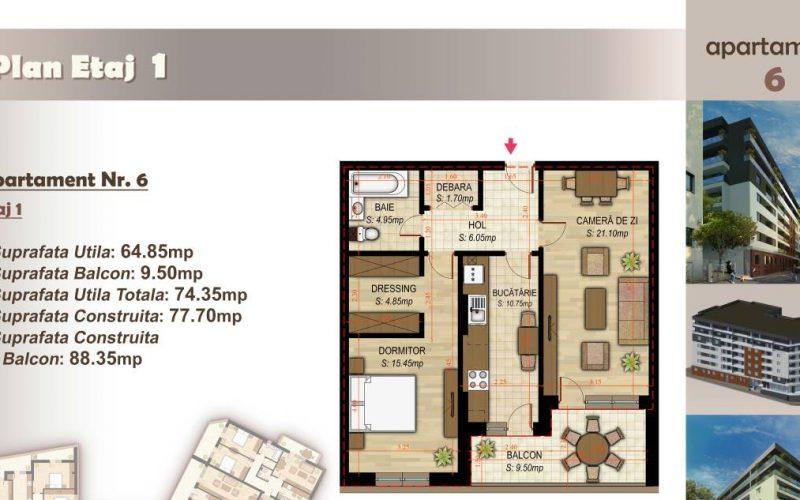 Apartament cu 2 camere Minulescu 39 Residence032