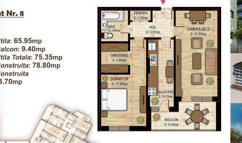 Apartament cu 2 camere Minulescu 39 Residence035