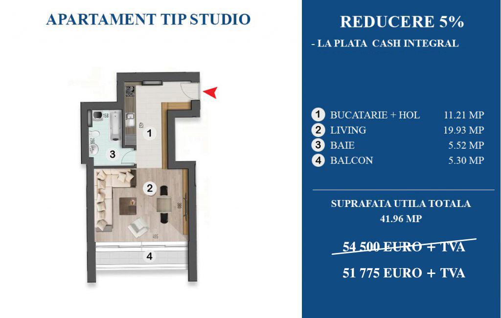Oferta Speciala Apartament tip studio Armonia Residence
