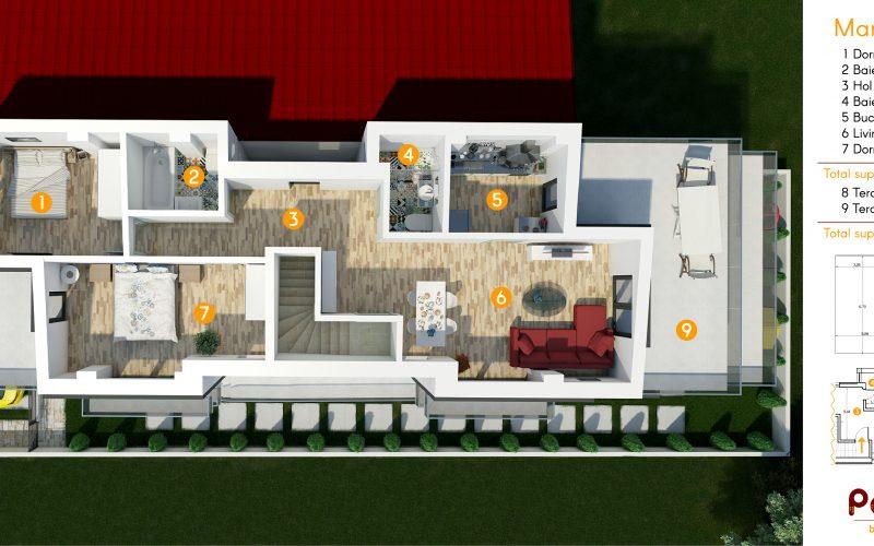 Petrana Residence apartamente - vedere de sus-01
