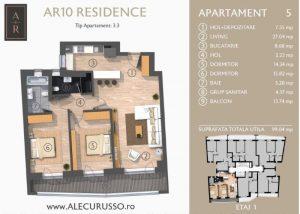 Apartament cu 3 camere Alecu Russo Residence