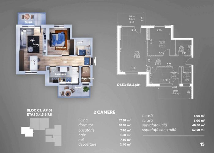 Arena Tower Residence - Plan 2d Apartament 2 Camere 10