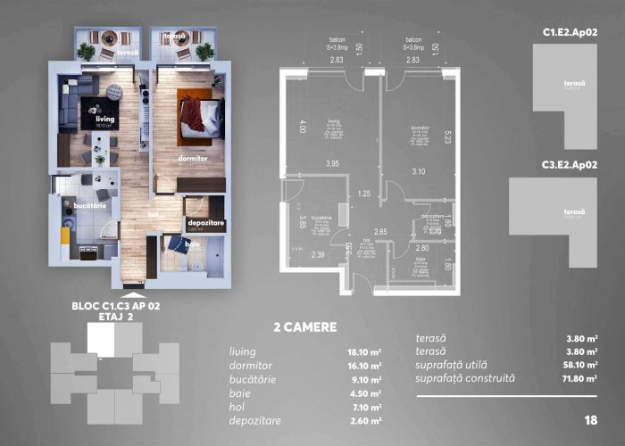 Arena Tower Residence - Plan 2d Apartament 2 Camere 1