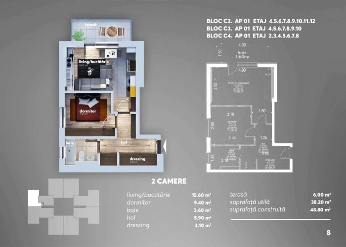 Arena Tower Residence - Plan 2d Apartament 2 Camere 8