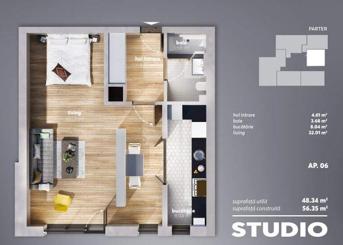 Carol Park Apartments Parter - Ap 06