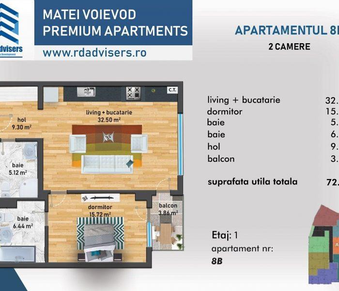 Matei Voievod Premium Apartments - apartament 2 camere_1