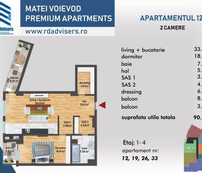 Matei Voievod Premium Apartments - apartament 2 camere_2