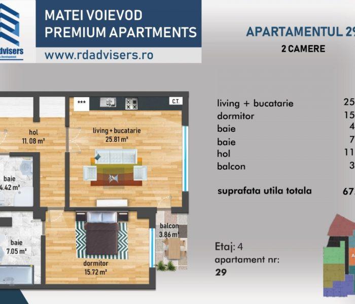 Matei Voievod Premium Apartments - apartament 2 camere_4