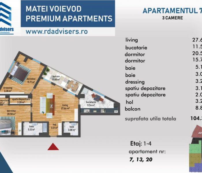 Matei Voievod Premium Apartments - apartament 3 camere_2