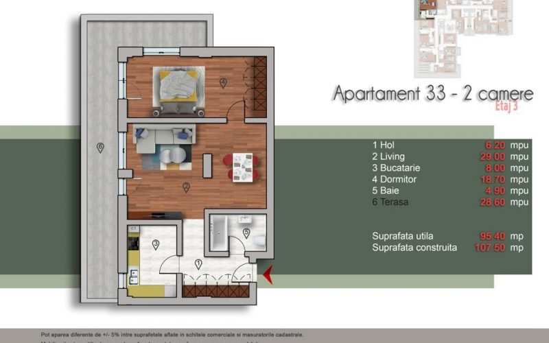 2 camere nr 33